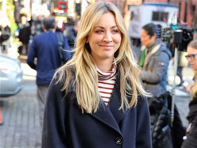 Kaley Cuoco Steals Airport Equipment To Stay Safe: 'Yeah, I Did Grab These'