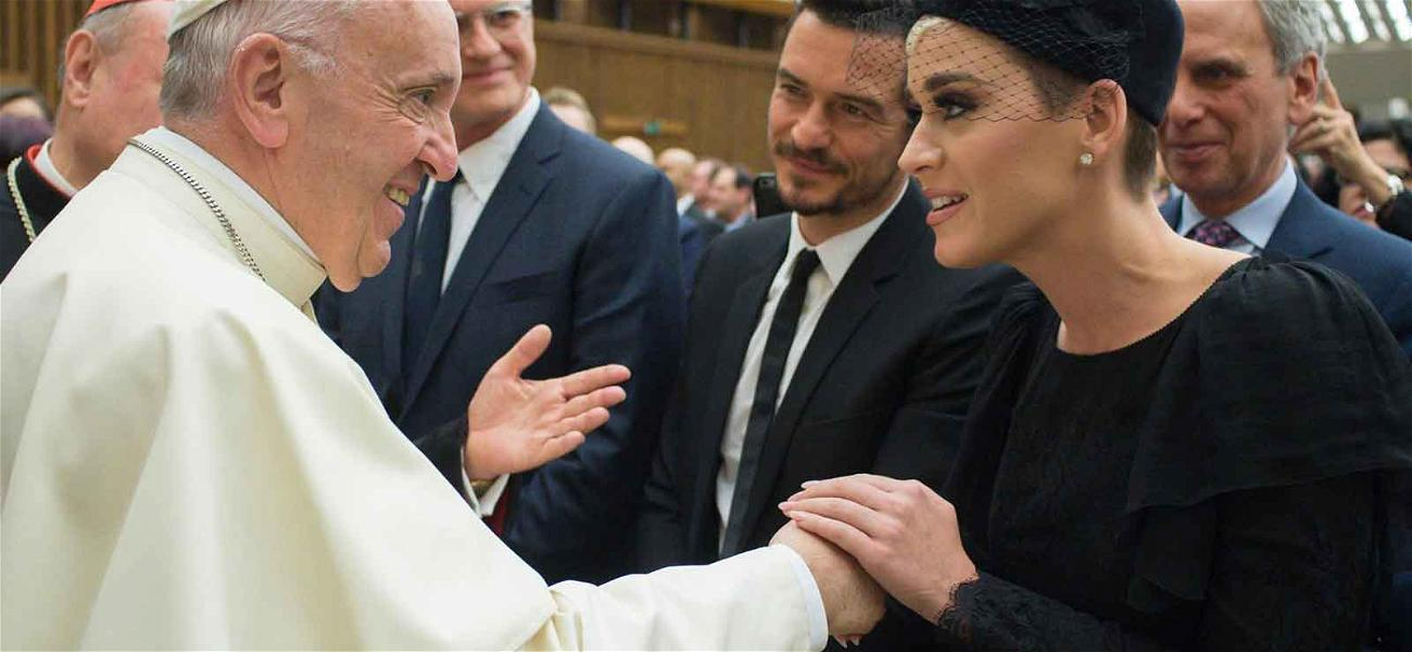 So Katy Perry, Orlando Bloom and The Pope Walk Into the Vatican…