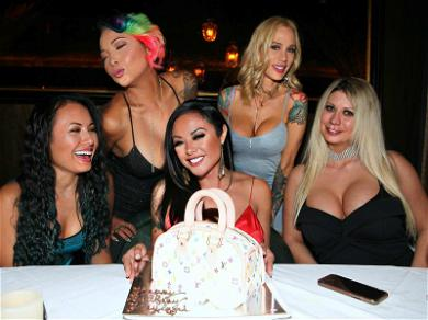Porn Star Kaylani Blows Out Her Louis During Birthday Dinner