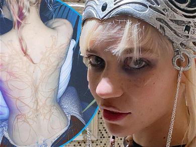 Elon Musk's Baby Mama Grimes Shows Off 'Beautiful Alien Scars' Back Tattoo