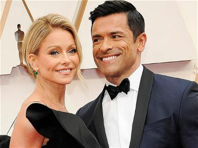 Kelly Ripa All Smiles With Shirtless Husband In Bed
