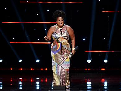 Lizzo Shows off her Style in Custom Mary Katrantzou Dress at NAACP Awards