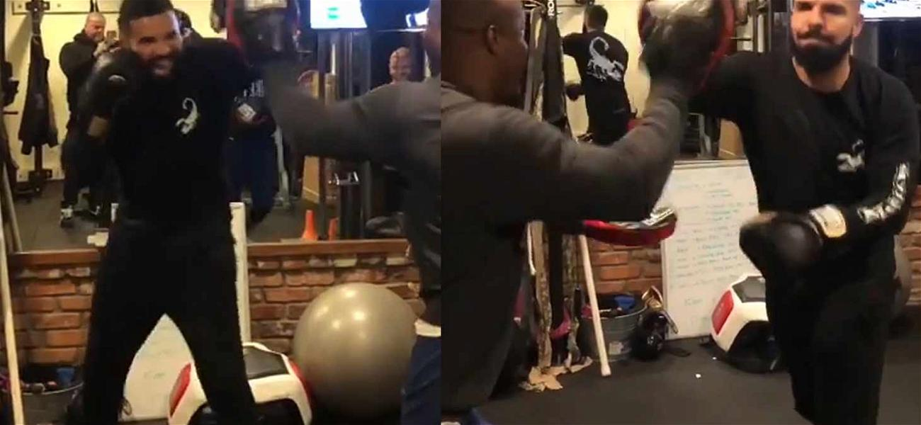 Drake Delivers a Pounding During Sunday Boxing Session