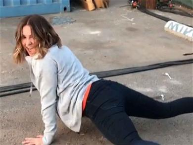 Katharine McPhee Drops It Low During On-set Dance Party