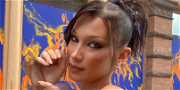 Bella Hadid Gives A Peek And A Wink In Lacy Black Bra