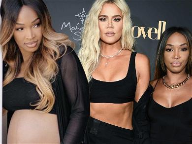 Khloé Kardashian's BFF Malika Haqq Flaunts Massive Baby Bump Days Before Due Date