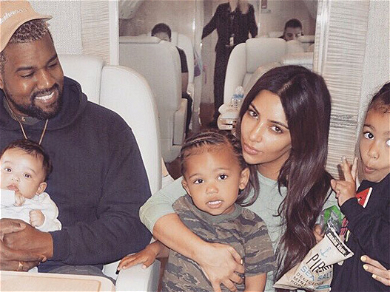 Kanye West All Smiles Dancing With North West As Kim Laughs Off Divorce Rumors