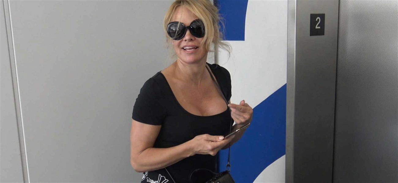 Pam Anderson Wants Kim Kardashian's Help to Free Julian Assange