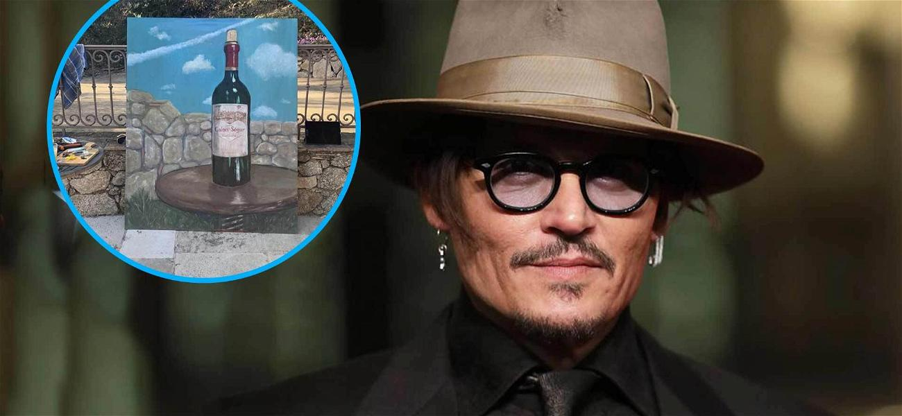 Johnny Depp Shares Painting He Has Been Working On for Over 14 Years!