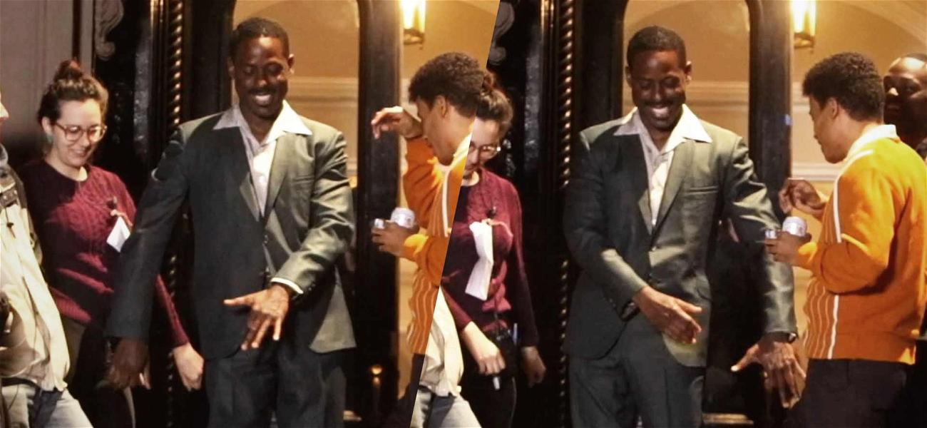 Sterling K. Brown Flossing on the Set of 'The Marvelous Mrs. Maisel'