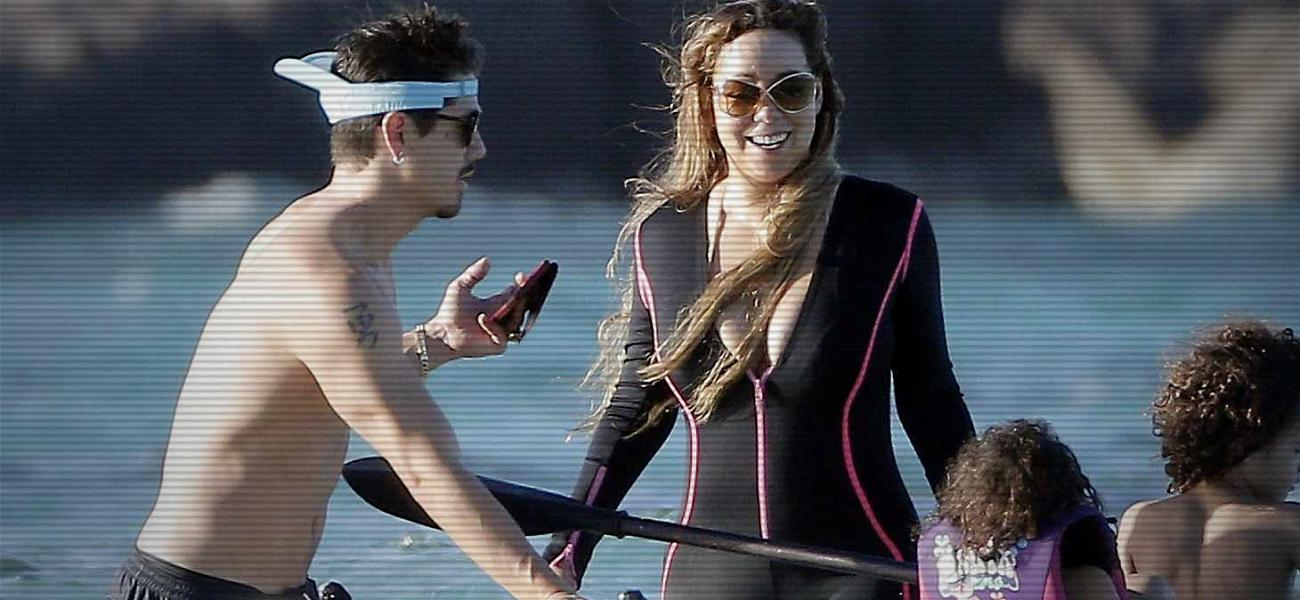 Mariah Carey Relaxes in St. Barts Before Heading Out on Tour