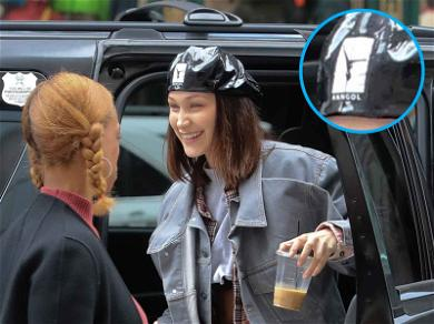 We're Totally Digging Bella Hadid's Throwback Stripper Hat