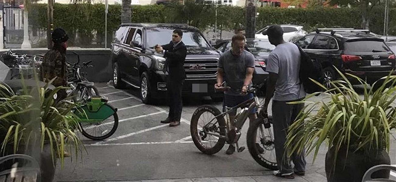 Arnold Schwarzenegger's Security Guard Pulls Taser on Alleged Bicycle Thief
