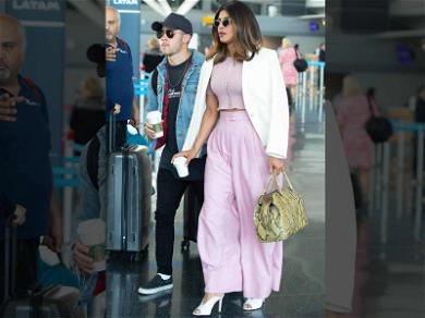 Nick Jonas & Priyanka Chopra Jet Off to the Big Apple