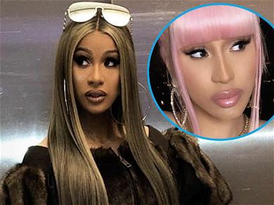 Cardi B Grabs Her Volumized Cleavage While Pouring Out Of Tiny Bra