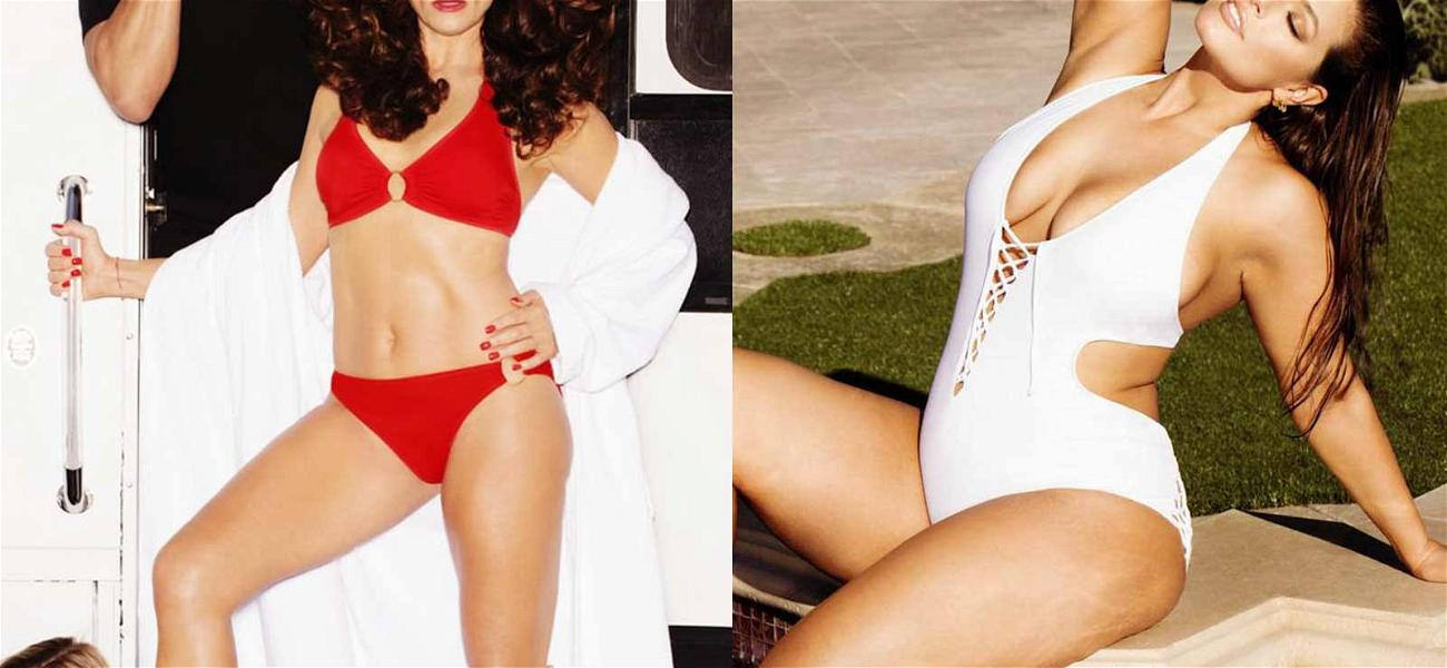 Brooke Shields and Ashley Graham Get ? Wet ? for New Swimsuit Campaign