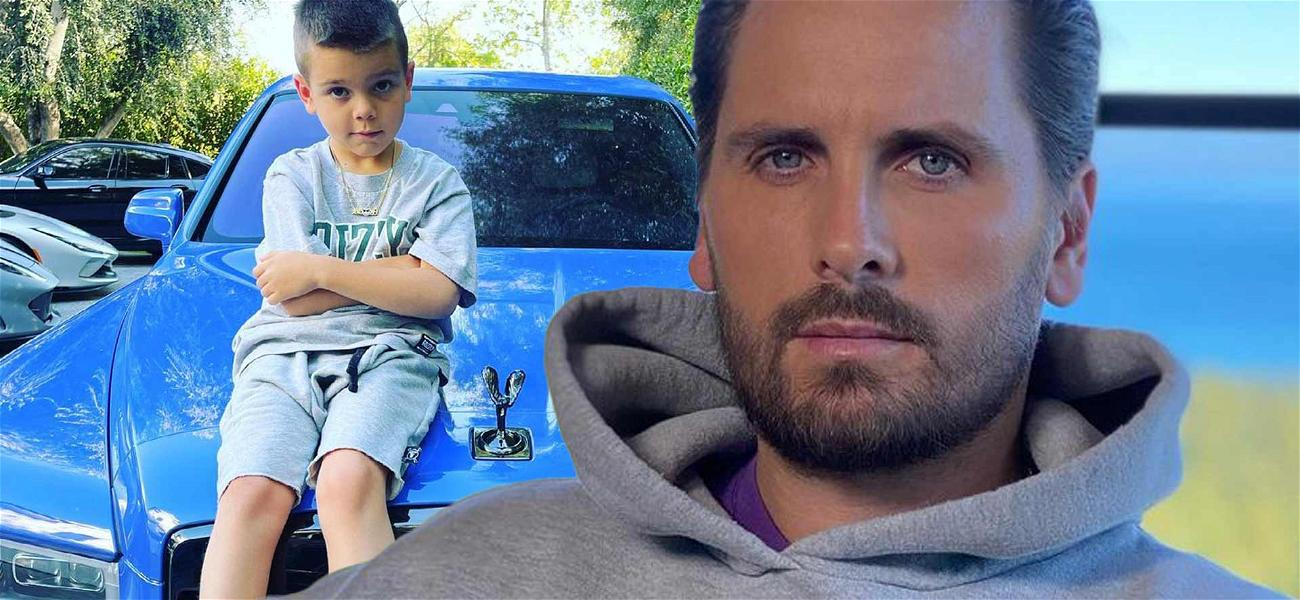 Scott Disick Shares Sick Pic Of 6-year-old Son Reign On Hood Of Baby Blue Rolls Royce
