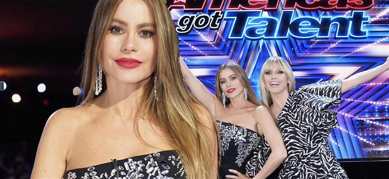 Sofia Vergara Flaunts Killer Curves In Tight LBD While Making 'AGT' Debut!