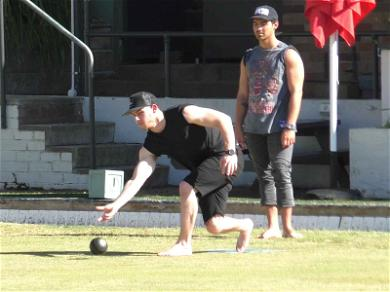 Jonas Bros. Show Off Biceps for Lawn Bowling Session