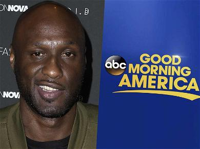 Former NBA Star Lamar Odom Films Interview for 'Good Morning America' With His Daughter