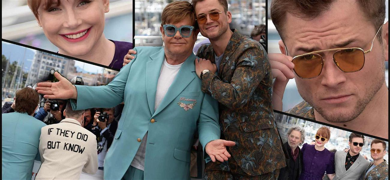 Elton John Poses With Taron Egerton for 'Rocketman' Debut at Cannes