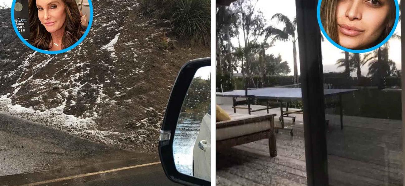 Celebrities Freak Out Over Snowfall in Malibu