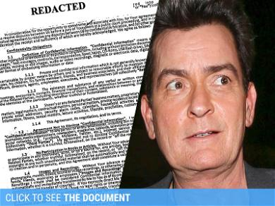 Charlie Sheen's 'Hooker' Contract Reveals Loose Lips Cost $100,000