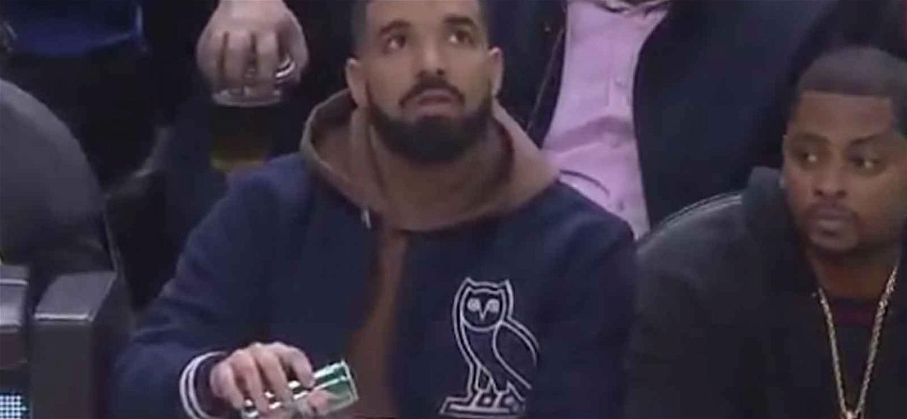 Drake Got Caught Mixing Cocktails at Toronto Raptors Game