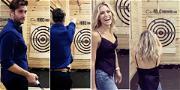 Jay Cutler Sucks at Axe Throwing, But Wife Kristin Cavallari Nails It