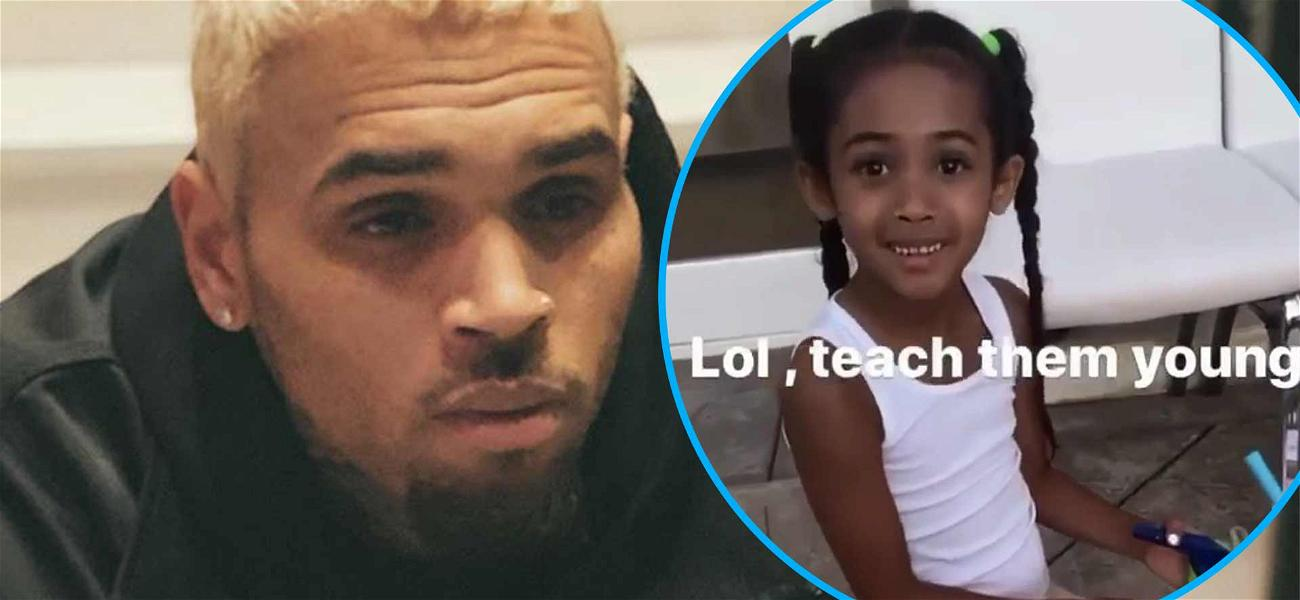 Chris Brown Shares Adorable Vid Of Daughter Royalty Airbrushing A 'BLM' Sign