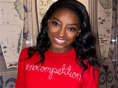 Simone Biles Straight-Up Stunning In Skimpy Shorts For Kitchen Selfies