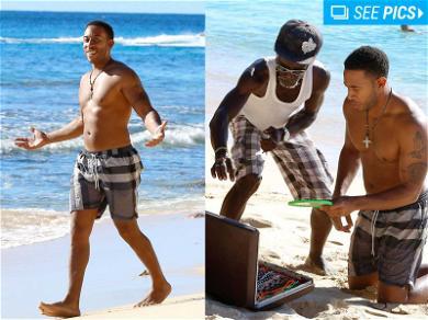 Ludacris Shows Off Money Maker in Barbados