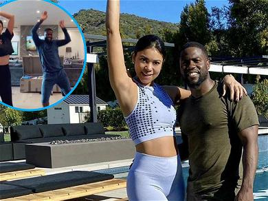 Kevin Hart Busts Out Scary 'Thriller' Dance Moves With Pregnant Wife Eniko: 'We R Not MJ!'
