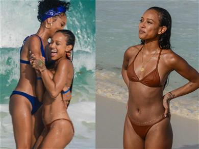 Karrueche Tran Gets All Wet With Girlfriends in Cancun