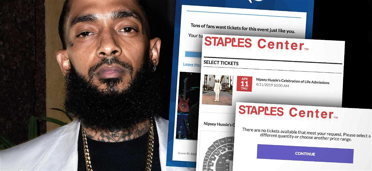 Nipsey Hussle Memorial Tickets Sell Out in Minutes, Fans Upset
