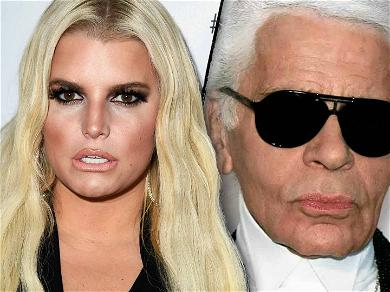 Jessica Simpson Gets Called Out For Mentioning 'Diet Goals' in Karl Lagerfeld Tribute