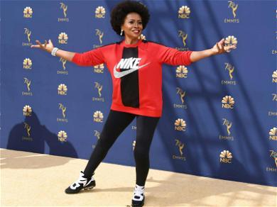 'Black-ish' Star Jennifer Lewis Sports Nike Sweatshirt on Emmys Red Carpet