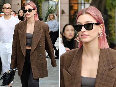 Hailey Bieber Thinks Pink with New Look in 2019 … Or is it?