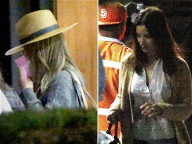 Jennifer Aniston & Courteney Cox Ready to Party in Mexico After Emergency Landing