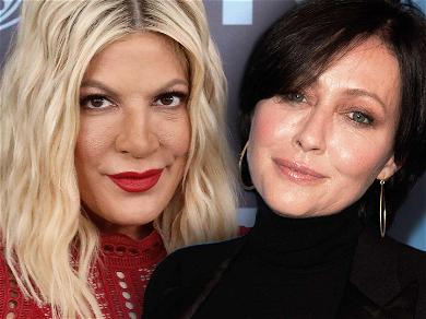 '90210' Star Tori Spelling Admits She's Not Close Friends with Co-Star Shannen Doherty