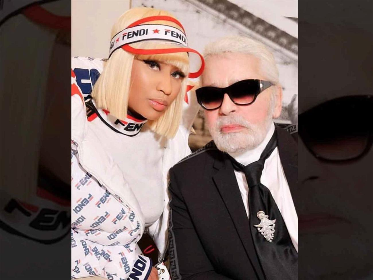 Nicki Minaj and Karl Lagerfeld
