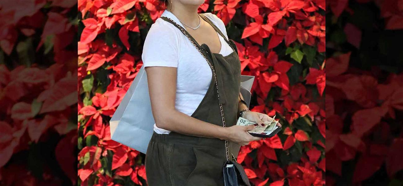 Eva Longoria Debuts Baby Bump During Last-Minute Shopping Trip