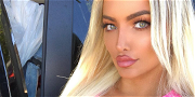 Lindsey Pelas Is Drop-Dead Gorgeous Flaunting Ripped Body In Skin Tight Tank Top!