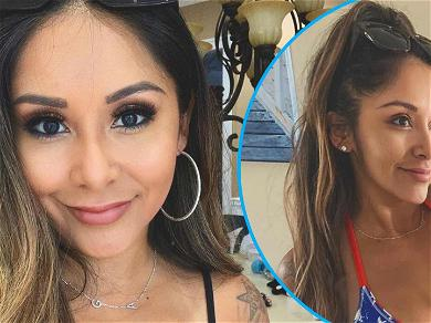 Snooki Looks Hot In Patriotic Red, White, And Blue Top