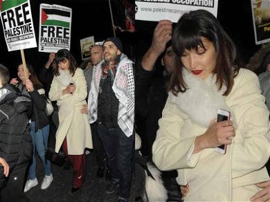 Bella Hadid Joins 'Free Palestine' Protest Outside American Embassy