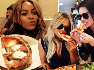 Celebrities Chowing Down on ? For #NationalCheesePizzaDay!