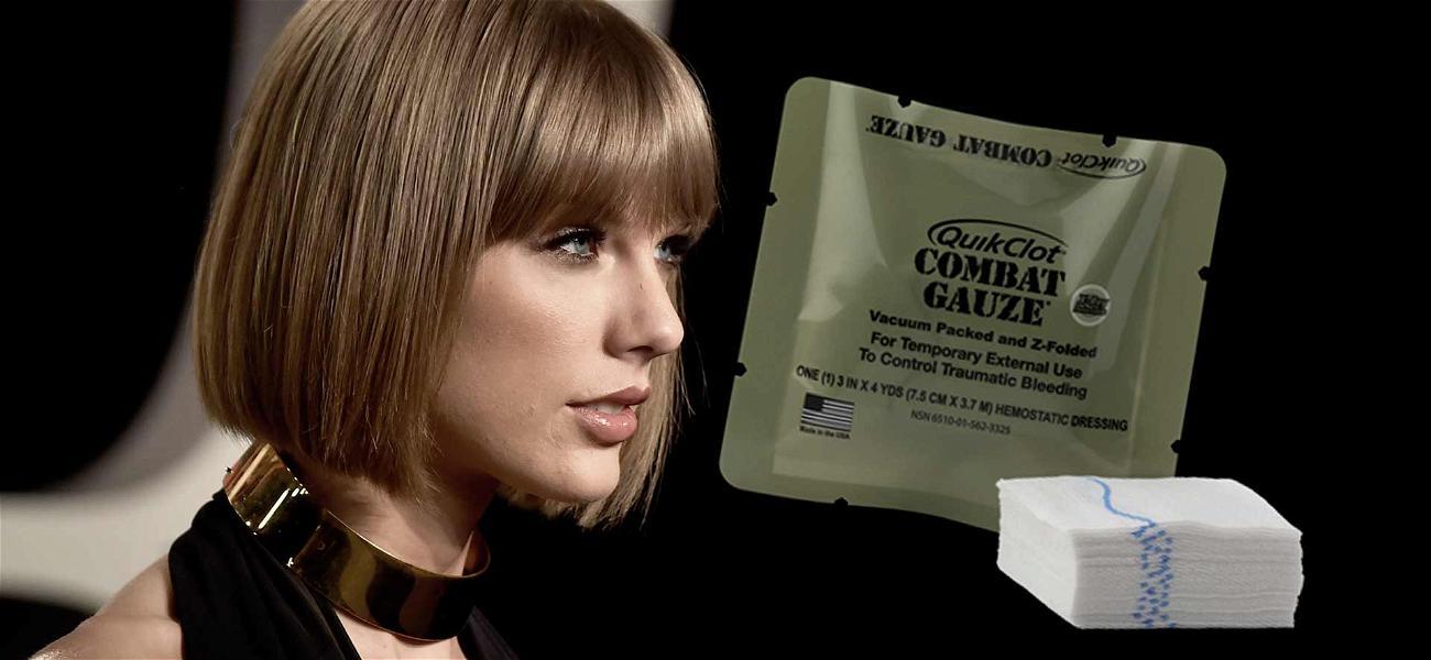 Taylor Swift Applauded for Toting Gunshot Gauze