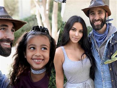 Kim Kardashian's Daughter North Poses With Giant Spider On Her Head