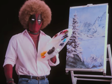 Ryan Reynolds Becomes Bob Ross to Push His Happy Little Movie
