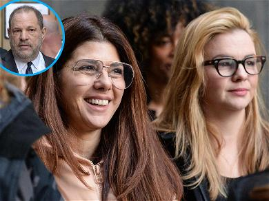 Marisa Tomei, Amber Tamblyn, Kathy Najimy Show Up to Confront Harvey Weinstein